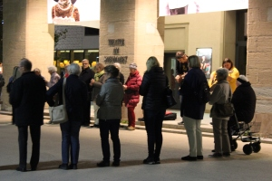 Schweigekreis (2) am Montag, 3. November 2014 (Fotos: UBG)